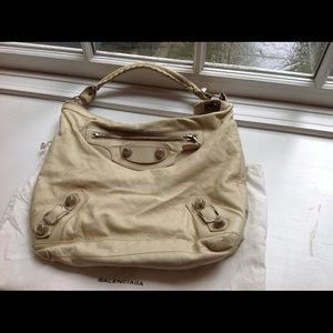 Cream Authentic Balenciaga bag